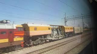 Станция Журавка. Поезд 201М Москва-Адлер 18.08.2017