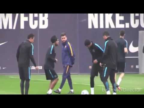 Barça Funny Moments In Training Part 1
