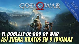 God of War: castellano vs español latino y otros siete idiomas más