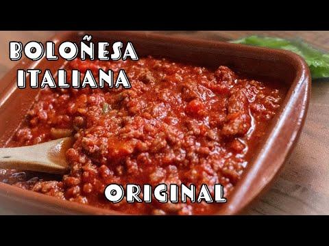 Salsa boloñesa italiana Original - Autentica Receta de Bolognesa para Espaguetis y Lasagna