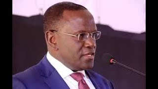 Health CS Cleopa Mailu address the press on the health crisis