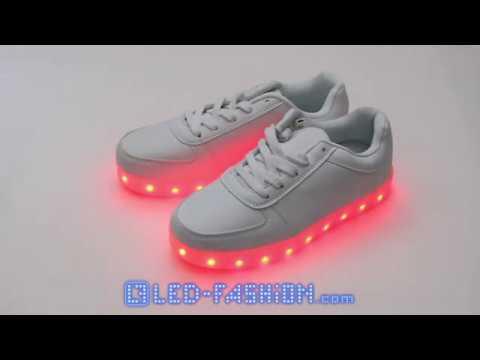 LED-Schuhe Leuchtende Sneaker weiß LED-Fashion Berlin