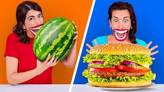 PEOPLE VS FOOD CHALLENGE || Try To Eat In 1 Second! Fastest Speed Eating By 123 GO! CHALLENGE