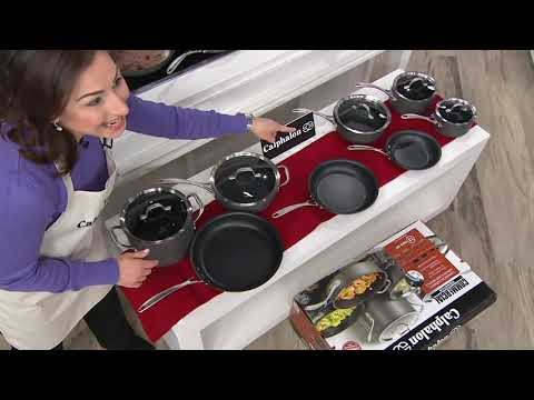Calphalon Commercial Hard-Anodized Nonstick 13-Piece Set on QVC