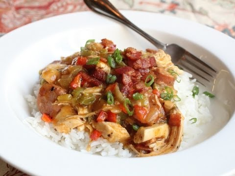 Cajun Chicken Ragu – Spicy Chicken and Sausage Stew over Rice – Mardi Gras Special
