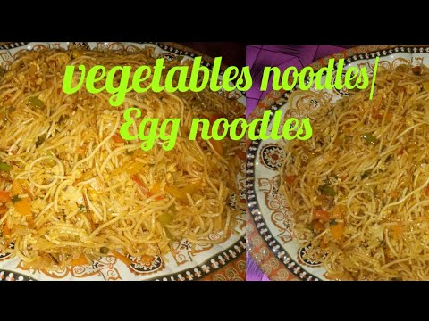 👌Easy to making vegetables noodles/Egg noodles/so yummy and very simple 🍝.recipe no27
