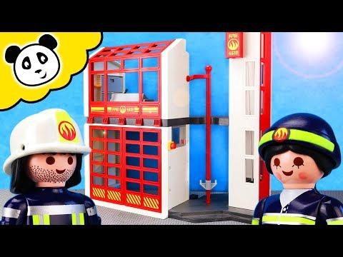 Playmobil Feuerwehr - Notfall Übung in der Feuerwehr Station! - Playmobil Film