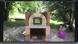 Bau eines Holzbackofens Toskana Premium