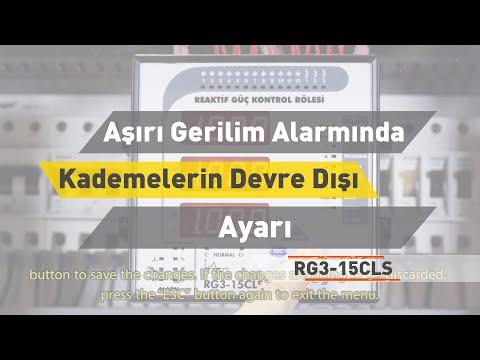 RG3-15 CLS - Aşırı Gerilim Alarmında Kademelerin Devre Dışı Bırakılıp Bırakılamama Ayarı