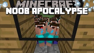 Minecraft 1000 NOOB APOCALYPSE TRY AND GET IN TO MARK OUR FRIENDLY ZOMBIE HOUSE !! Minecraft Mods