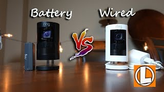 Ring Stick Up Cam Wired VS Battery - Comparison of Features, Settings, Footage