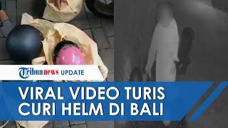 Viral Video Turis Rusia Gondol 5 Helm dalam Semalam, Akui Lakukan Pencurian karena Mabuk dan Depresi