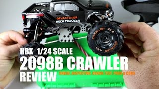 HBX 2098B 1/24 Scale Rock Crawler Review - [Unbox, Inspection, Crawl Test, Pros & Cons]