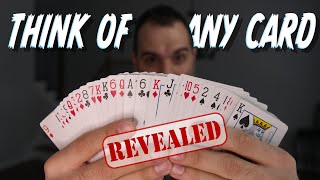 The Most FAMOUS Mind-Reading Card Trick, Revealed! Mentalism Tutorial