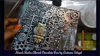 Mixed Media Altered Box || DIY || Recycled Chocolate Box