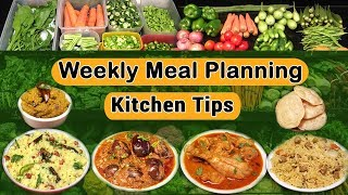 Weekly Meal Planning | Kitchen Tips For Working Women | Indian Weekly Meal Plan