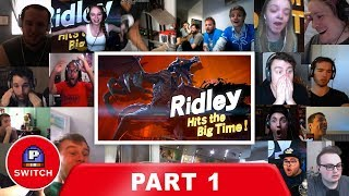 Live Reaction: Ridley on Smash Bros Ultimate (PART 1) | E3 2018 | Synched Compilation