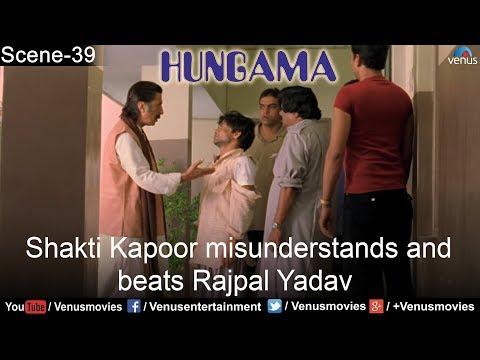 Shakti Kapoor misunderstands and beats Rajpal Yadav (Hungama)