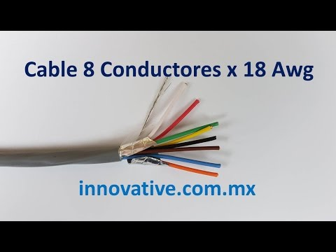 Cable 8 Conductores x 18 AWG