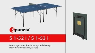 Sponeta S 1-52 i / S 1-53 i - Montageanleitung Tischtennistisch / Instructions for assembly and use
