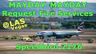 [REAL ATC] British Airways CAUGHT FIRE at Las Vegas LAS