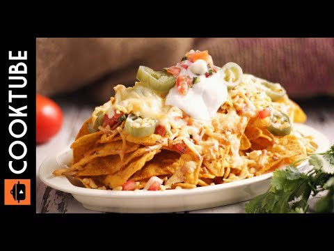 Cheesy Loaded Nachos Recipe | Mexican Appetizer Recipe
