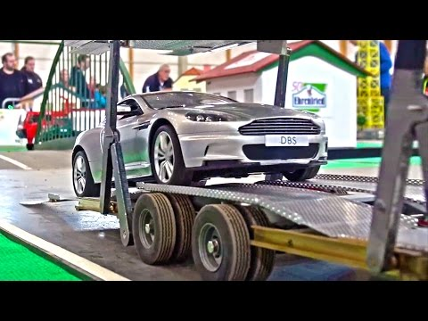 Fantastic RC Scania Car Transport - RC Truck Action - Car Carrier Trailer