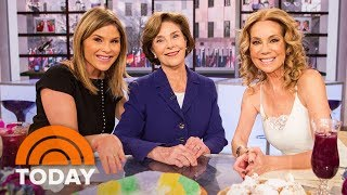 Laura Bush Visits Daughter Jenna And Kathie Lee | TODAY