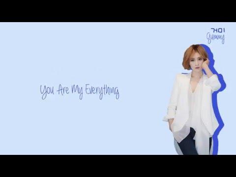 gummy        you are my everything lyrics han rom eng