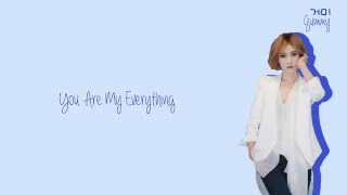 Gummy (거미) - You Are My Everything Lyrics (Han/Rom/Eng)