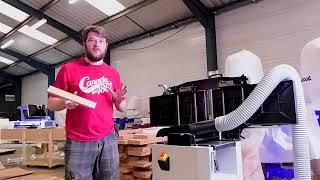 AKJ1390 cnc co2 nonmetal laser cutting machine with ruida cutter laser controller reci 90W 100W youtube video