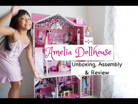 Amelia Dollhouse: Unboxing, Assembly & Review   Fun World of Erish