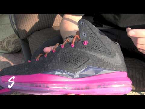 6118ed8ebeb Video  Nike Lebron X 10 Floridian Away Review By  Theburningsole ...