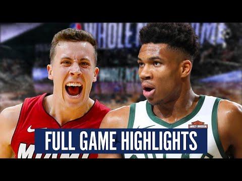 MIAMI HEAT at MILWAUKEE BUCKS - FULL GAME HIGHLIGHTS | 2019-20 NBA