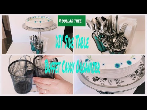 Download Dollar Tree Diy Side Table And Buffet Caddy Organizer Video
