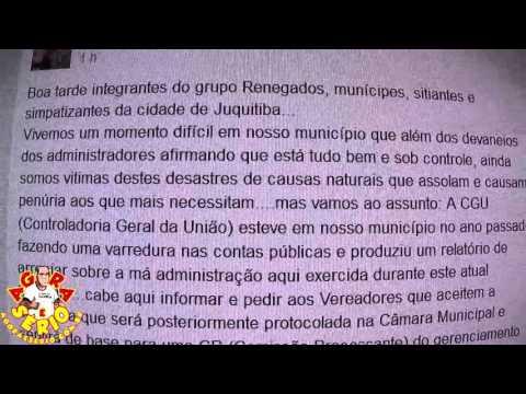 Renegados avisa Vereadores pelo Facebook que o grupo vai assinar a CP Comissão Processante contra o Prefeito Francisco Junior