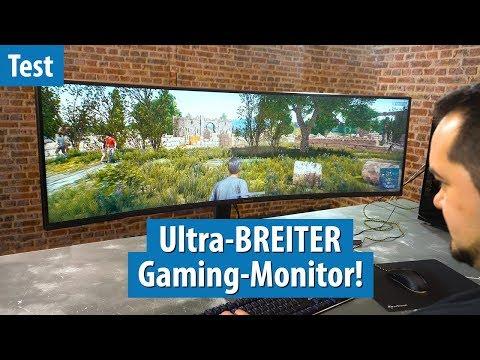120 Zentimeter: Fritz hat den BREITESTEN Gaming-Monitor im Test | Samsung C49HG90