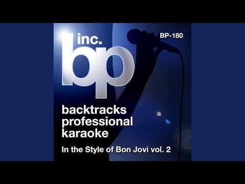 Misunderstood (Karaoke Instrumental Track) (In the Style of Bon Jovi)