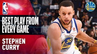 Stephen Curry's Best Play From Every Game of the 2017-18 Season - Video Youtube
