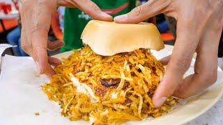 Ultimate MIAMI FOOD TOUR!! 🥪 Insane Crunchy Burger + Cuban Sandwich in Florida, USA (Part 1)