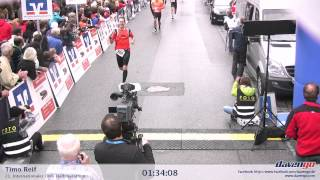 preview picture of video 'Zieleinlauf Halbmarathon Altötting 2012, 01:34:08'
