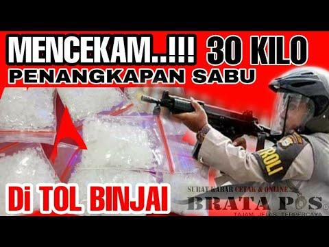 Mencekam.!!!!  DETIK-DETIK PENYERGAPAN SABU 30 Kg DI TOL BINJAI