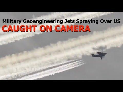 Caught On Camera, Military Geoengineering Jets Spraying Over US