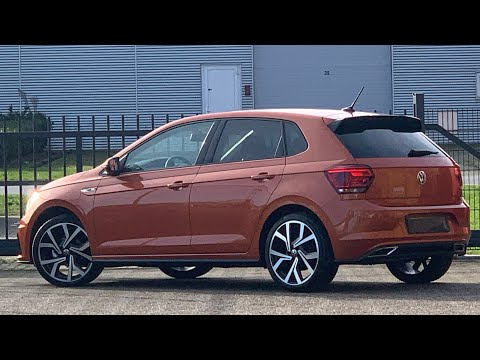 Volkswagen NEW Polo R-Line 2021 in 4K Energic Orange 18 inch Brescia walk around & detail inside