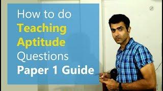 TEACHING APTITUDE Paper 1 - UGC CBSE NET JRF
