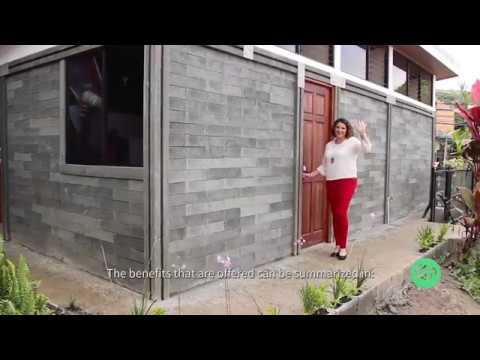 Construcción de casas ecológicas en plástico reciclado - Ekojunto de Costa Rica