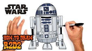 How to Draw R2D2 (Star Wars)- Easy Art Lesson