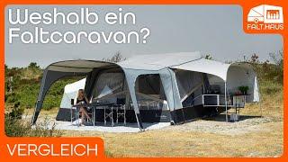 Wohnmobil, Wohnwagen, Faltcaravan & Zelt im Vergleich