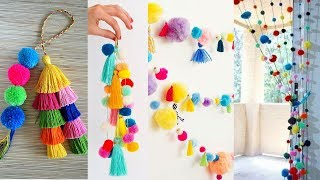 10 Awesome DIY ROOM DECOR! | HandmadeThings With Woolen Pom Pom | 10 New DIY ROOM DECOR 2019