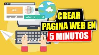 Crear Una Pagina Web - en 5 minutos
